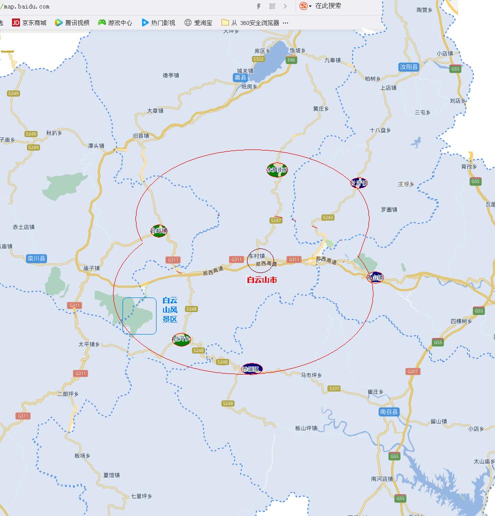 嵩县行政区划地图